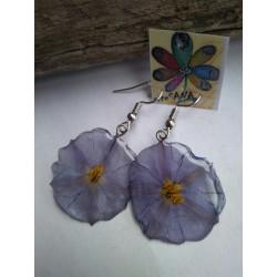 pendiente flor lila