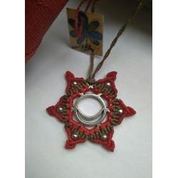 collar estrella mantra rojo