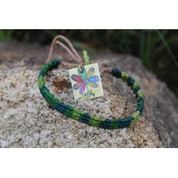 pulsera verde macrame