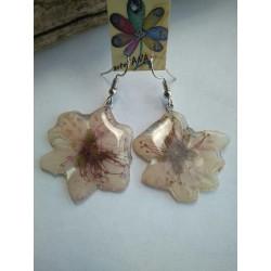 pendientes flor del melocoton